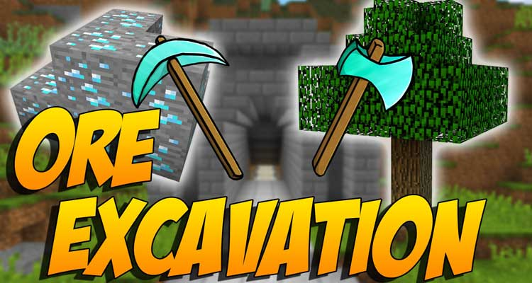 Ore Excavation Mod 1.14.4/1.12.2 – New Shape Mining