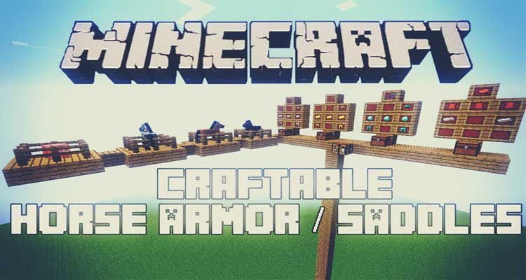 Craftable Horse Armour and Saddle Mod 1.14.4/1.12.2