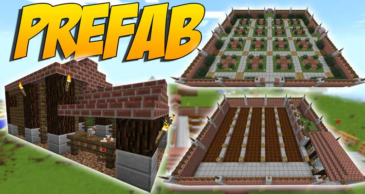 Prefab Mod 1.14.4/1.12.2 – Prefabricated Building For Minecraft