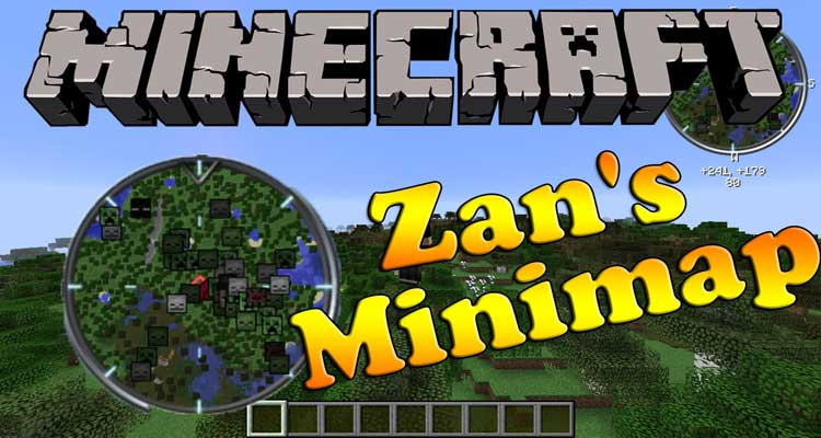 Zan's Minimap Mod 1.14.4/1.12.2 – Mob Detection, Set Waypoints For Minecraft