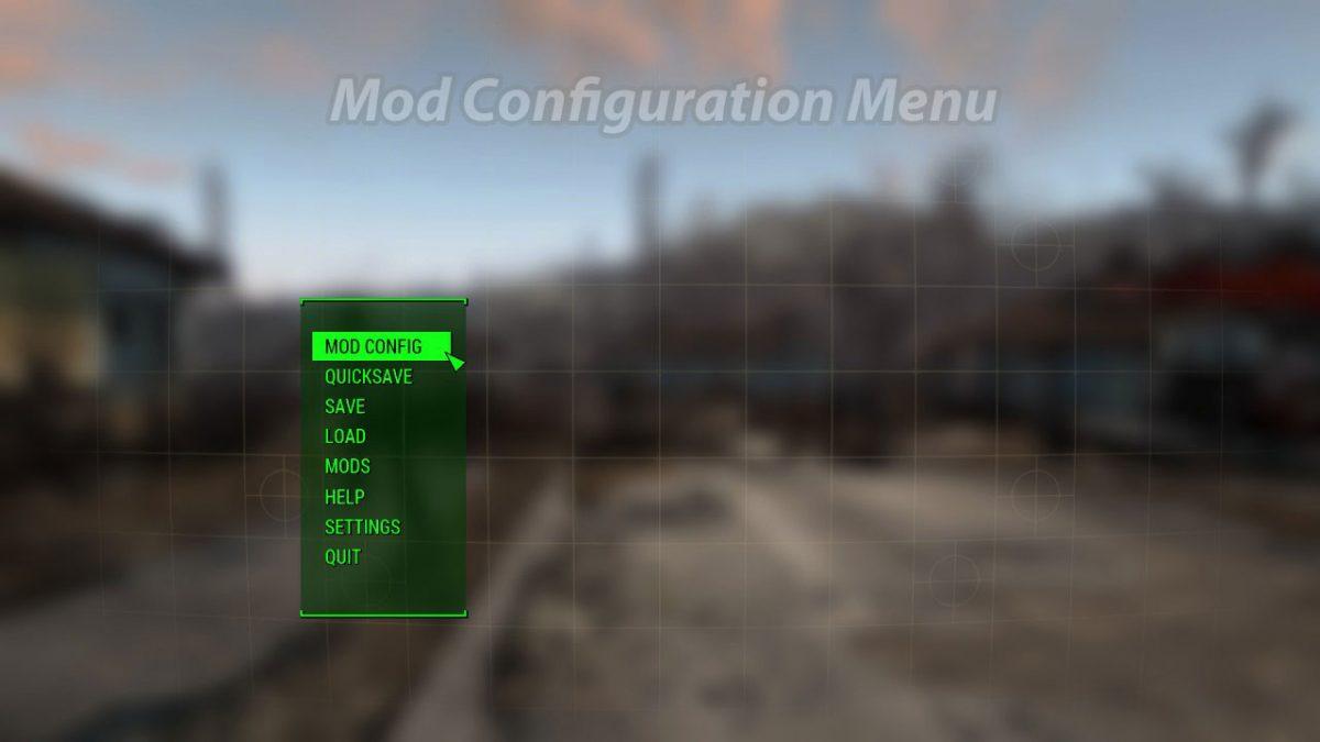 Mod Configuration Menu