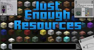Just Enough Resources Mod 1.14.4/1.12.2
