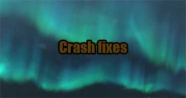 Crash fixes