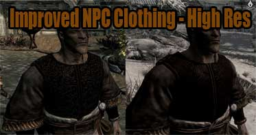 Improved NPC Clothing – High Res