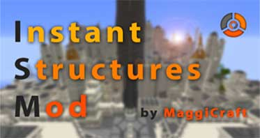 Instant Structures Mod 1.16.1/1.15.2 – Build a Minecraft World in Seconds