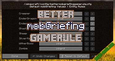 Better mobGriefing GameRule Mod 1.16.3/1.15.2/1.12.2