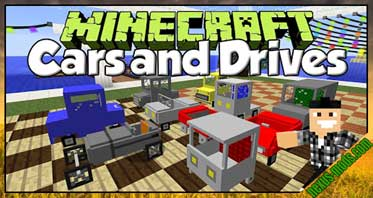 Cars and Drives Mod 1.8.9/1.7.10/1.6.4