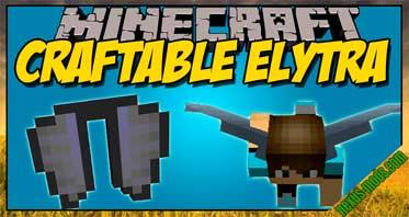 Craftable Elytra Mod 1.12.2/1.11.2/1.10.2