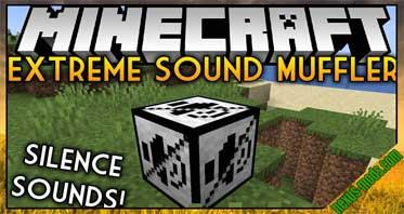 Extreme sound muffler (Forge) Mod 1.16.5/1.15.2/1.14.4