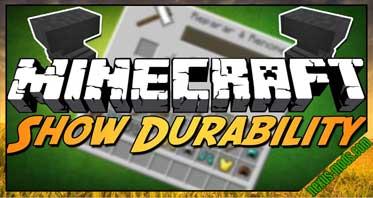 Durability Show Mod 1.12/1.10.2/1.7.10