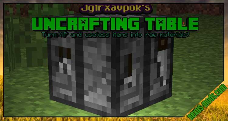 jglrxavpok's Uncrafting Table